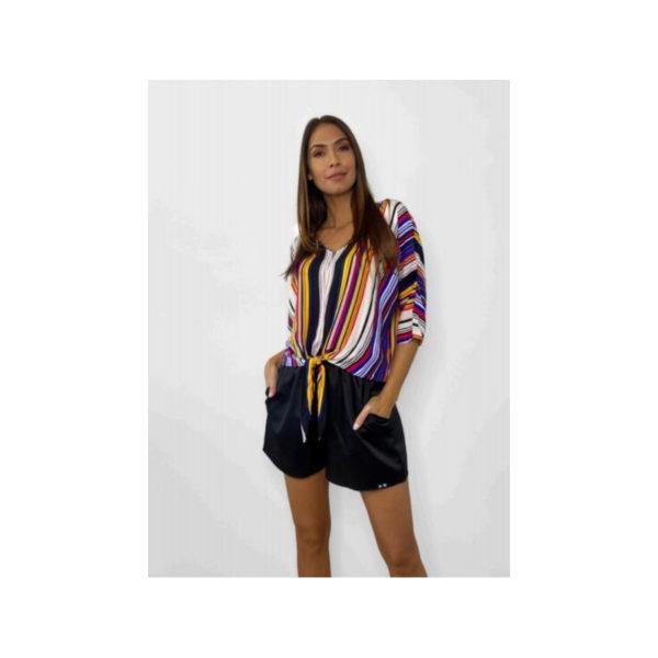 luxury - camisa rayas multicolor
